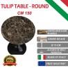 150 cm Tavolo Tulip Marbre Emperador ronde