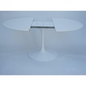 137 cm Table Tulip extensible Laminé Liquid ronde