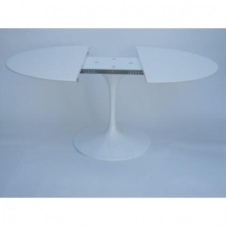 160x110 cm Table Tulip extensible Laminé Liquid ovale