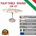 127 cm round Tulip table - Purple Calacatta marble
